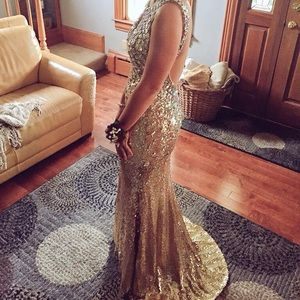 Dresses & Skirts - Gold Prom Dress